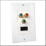 HDMI + COMPONENT VIDEO WALL PLATE