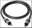 Techcraft Toslink Digital Audio Cable with Metal Connections